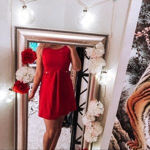 Sweet simple red a line dress presidential